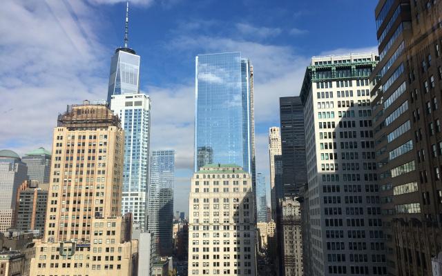 Wall Street с высоты 22 этажа